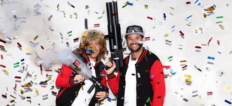 Funky Risotto co2 gun confetti